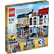 LEGO Creator 3-in-1 Bike Shop   Café Modular Building Set with Outdoor Dining, Rooftop BBQ and Auto