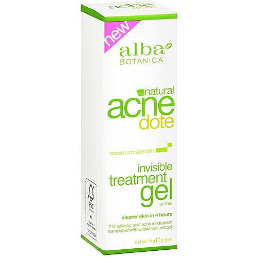 Alba Botanica Natural Acnedote Invisible Treatment Gel, 0.5 oz