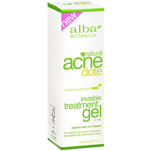 Alba Botanica Natural Acnedote Invisible Treatment Gel, 0.5 oz