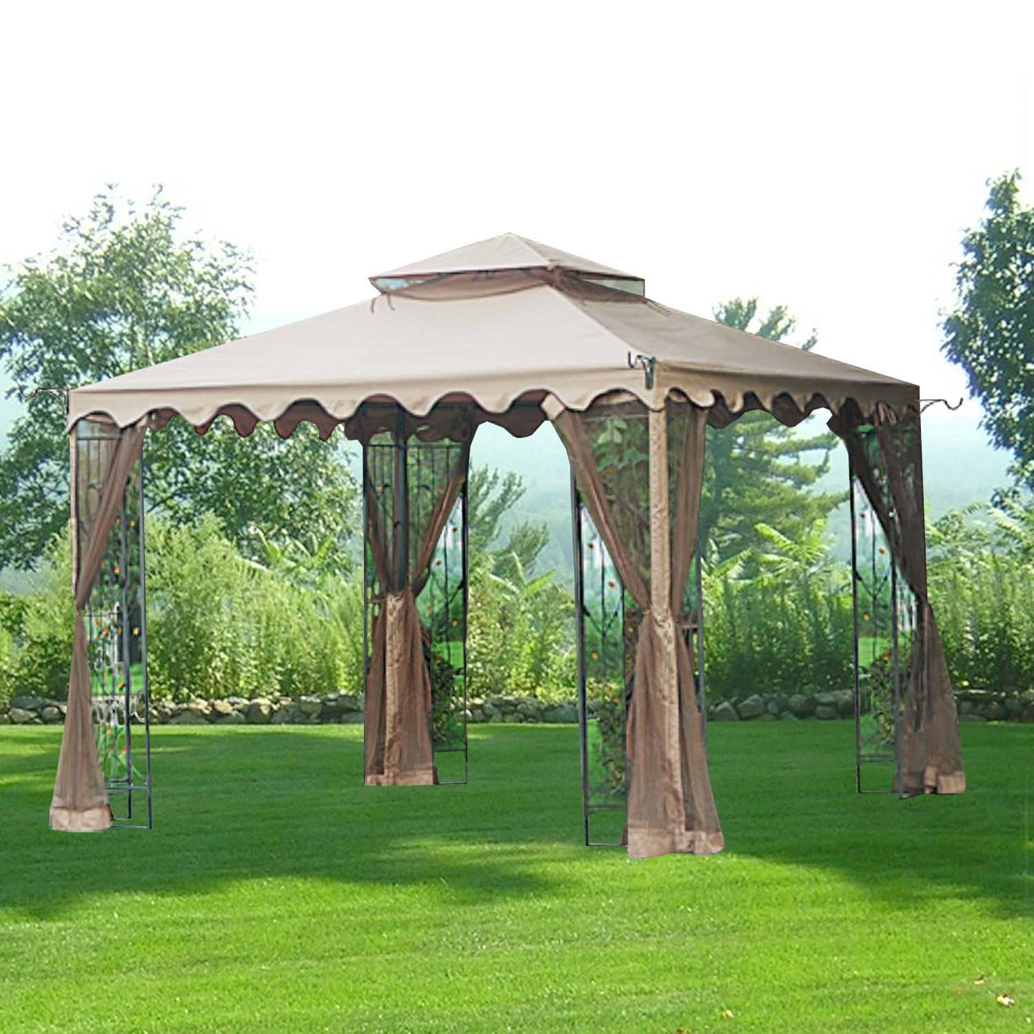 Garden Winds Replacement Canopy Top for 10x10 Leaf Gazebo - Riplock 350