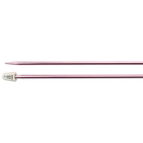 """Silvalume Single Point Knitting Needles, 14"""", Size 7, Rose"""