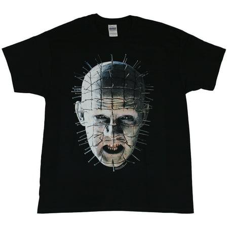Hellraiser Mens T-Shirt - Shadowy Full Color Pinhead Image - Hellraiser Pinhead