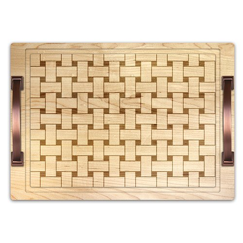 Martins Homewares Vintage Fruit Basket Weave Cheese Tray