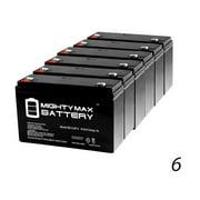 6V 12AH F2 SLA Battery for Expocell P206/100, P206/120 - 6 Pack