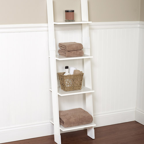white bathroom storage tower hawthorne bathroom wood ladder linen tower white 21452