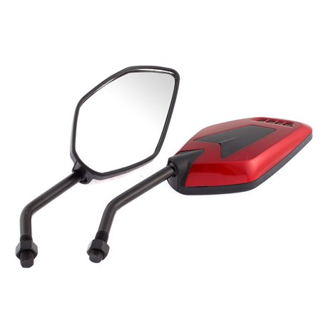 2 Pcs Motorbike Motorcycle Rotatable Rearview Blind Spot Mirrors Red
