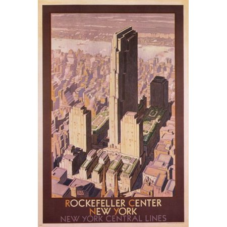 Rockefeller Center New York Vintage Travel Poster L Ragan Us 1936 24X36