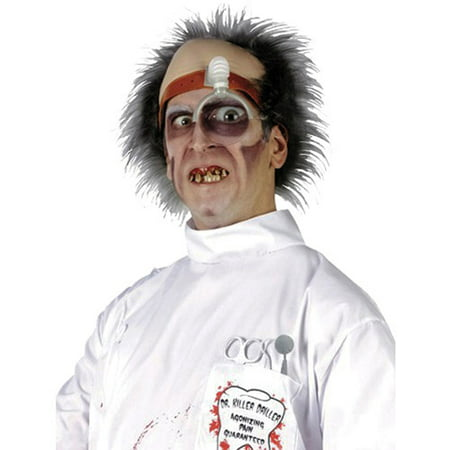 Scary Doctor Costume (Doctor Killer Driller Headpiece Adult Halloween)