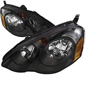 Spec-D Tuning 2LH-RSX02JM-RS Acura Rsx Jdm Black Dc5 Oem Diamond Head Lights Lamps