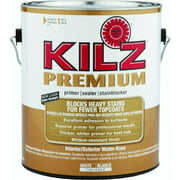 KILZ Premium Water-Base Interior & Exterior Sealer Stain Blocking Primer, 1 Gallon