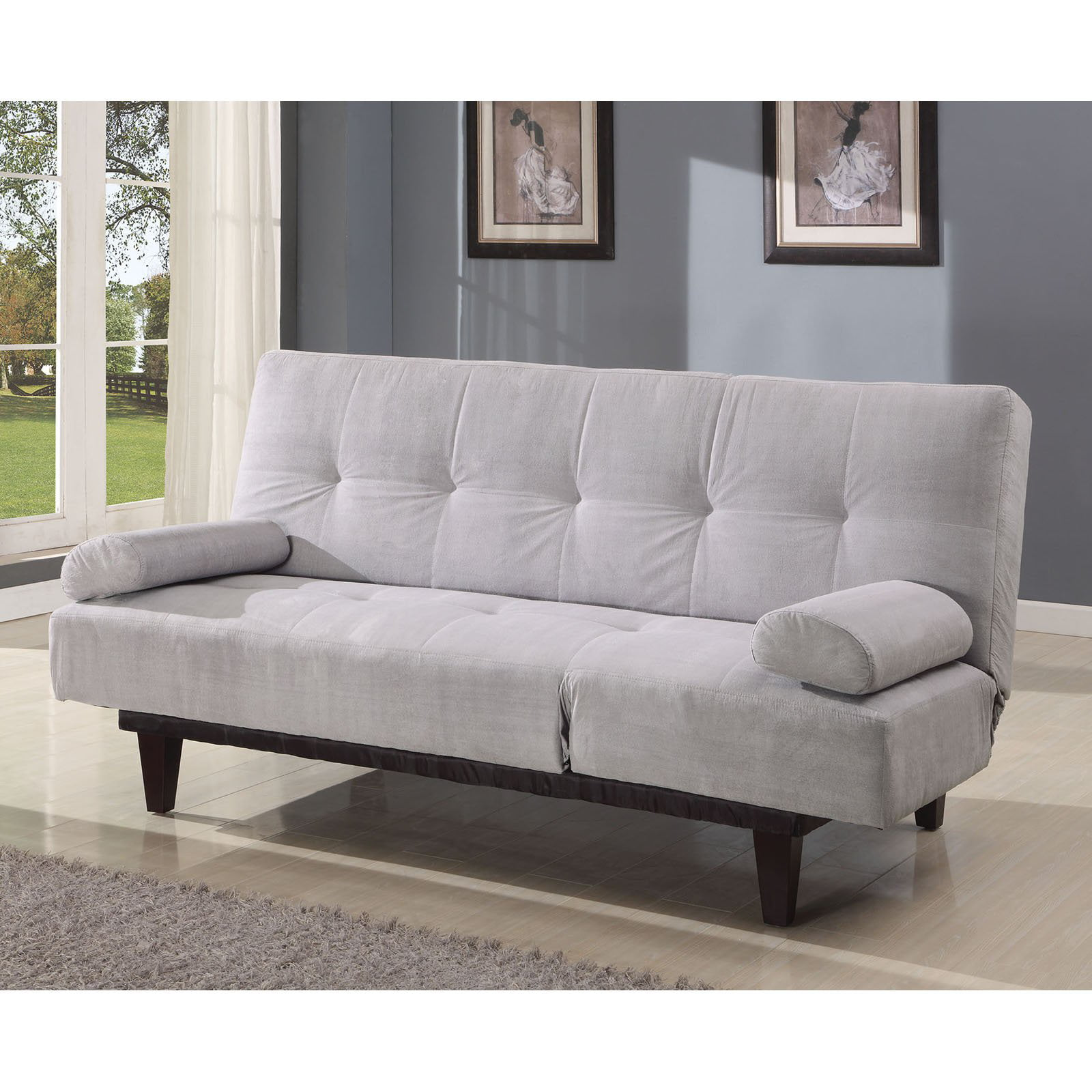 barcelona convertible futon sofa bed and lounger with pillows multiple colors walmartcom