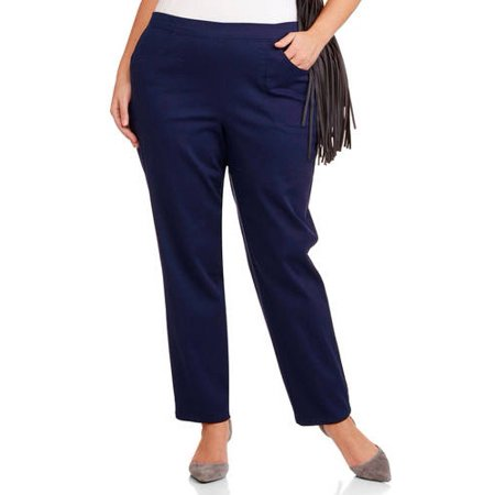 9cf58e1c7bb Just My Size - Women s Plus-Size 2-Pocket Pull-On Stretch Woven ...
