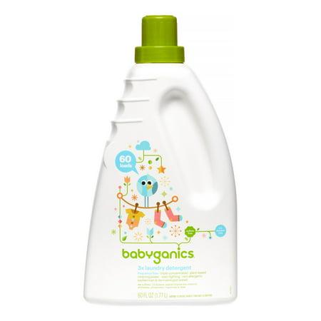Babyganics 3x Laundry Detergent, Fragrance Free, 60oz