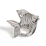 Zodax Polished Nickel Fish Napkin Ring in Silver (Set of 6)