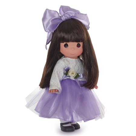 Precious Moments Dolls by The Doll Maker, Linda Rick, Lovely in Lace, Brunette, Violet, 12 inch doll