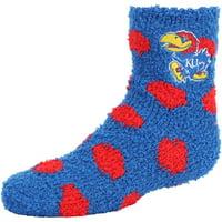 Kansas Jayhawks ZooZatz Girls Youth Fuzzy Socks - No Size