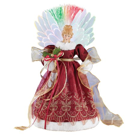 Fiber Optic Color Changing Angel Tabletop Decoration - Christmas Indoor Holiday Accent with Intricate Details](Christmas Tabletop Decorations)
