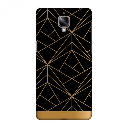 OnePlus 3 Case, OnePlus 3T Case, Premium Handcrafted Designer Hard Snap on Shell Case ShockProof Back Cover for OnePlus 3 3T - Golden Elegance