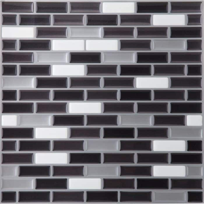 ACHIM Magic Gel Silver/Black 9.125x9.125 Self Adhesive Vinyl Wall Tile - 1 Tile/0.75 sq Ft.