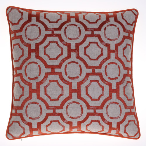 Image of 14 Karat Home Inc. Embroidered Distressed Geometric Throw Pillow