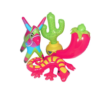 Inflatable Fiesta Decorations, Dozen