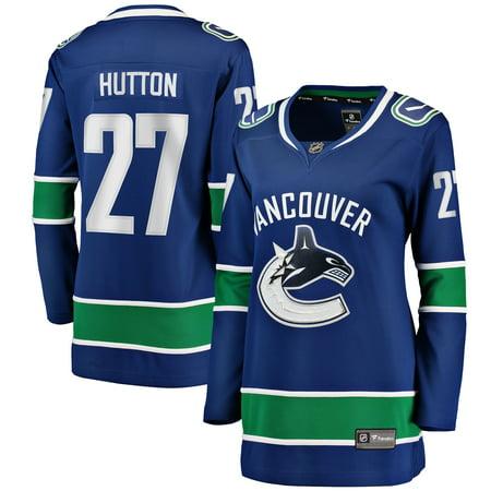Ben Hutton Vancouver Canucks Fanatics Branded Women's Home Breakaway Player Jersey - Blue