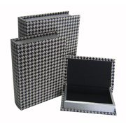 Cheungs 3 Piece Houndstooth Book Box Set