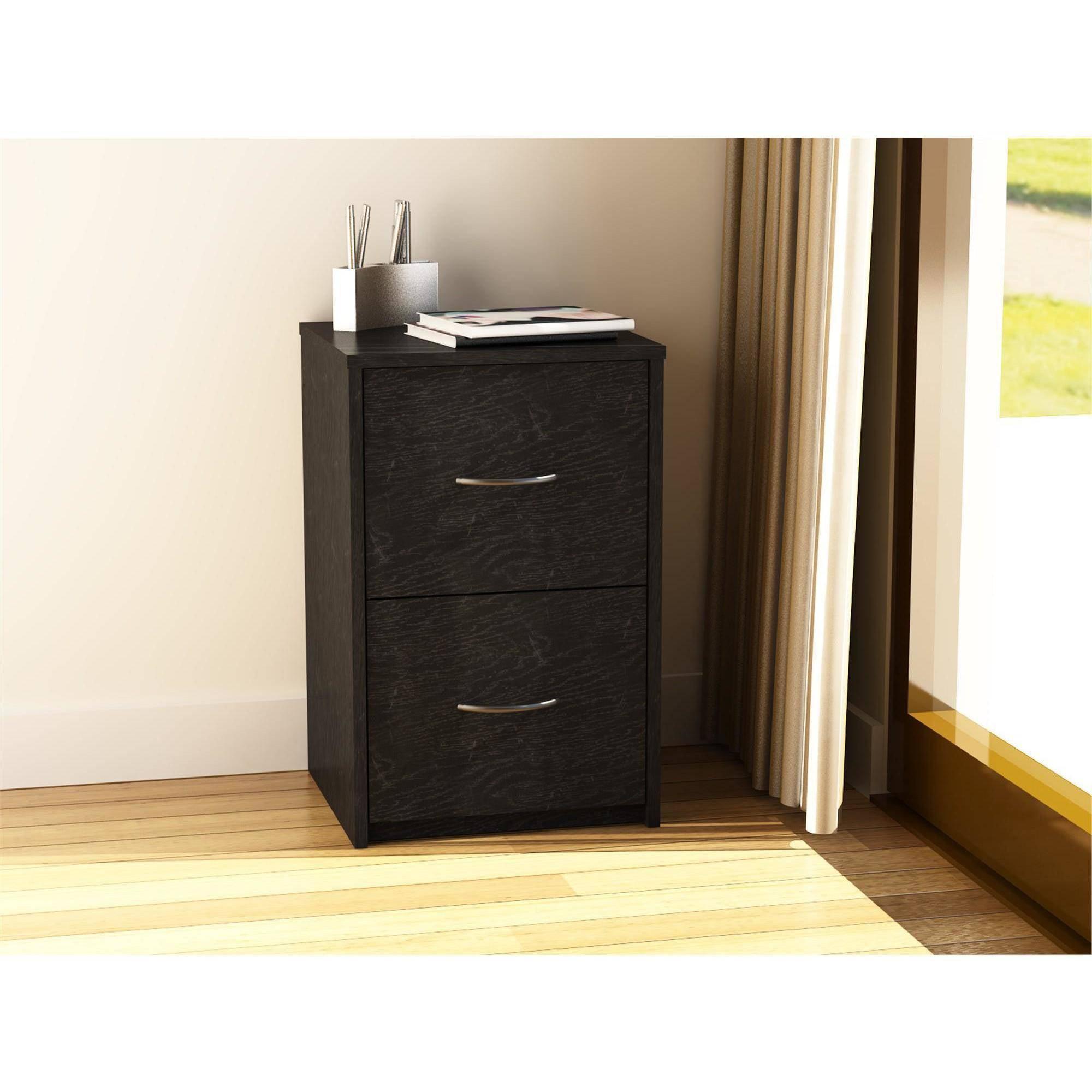ameriwood home core 2 drawer file cabinet, black - walmart