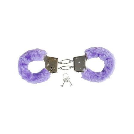 Handcuffs For Sale (Soft Purple Fuzzy Furry Handcuffs Hand)