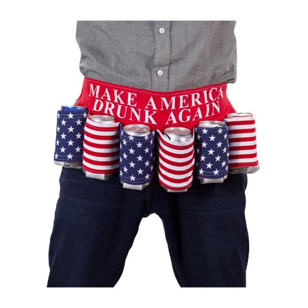 calhoun make america drunk again usa flag beer belt - Duffman Beer Belt