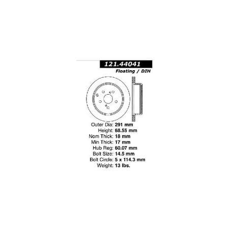 Go-Parts » 1991-1997 Toyota Previa Rear Disc Brake Rotor