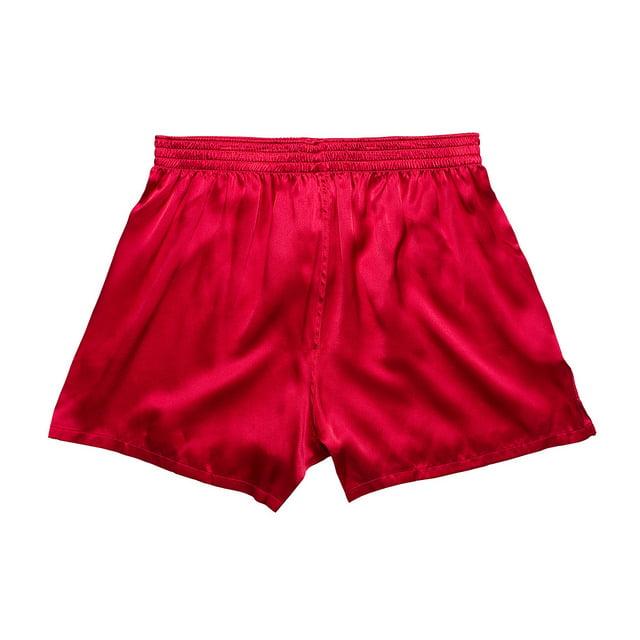 Intimo Men's Full Cut Silk Boxer Short