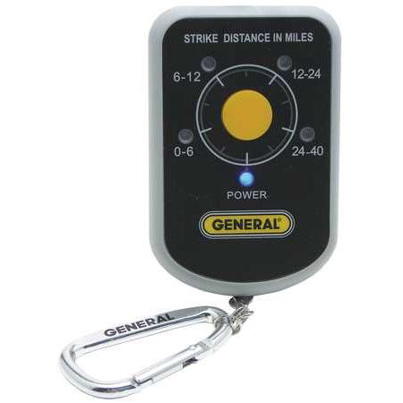 GENERAL LD7 Personal Lightning Detector,40 Miles ()
