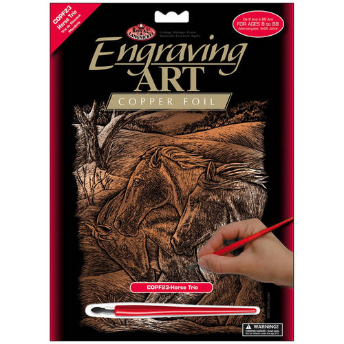 "Copper Foil Engraving Art Kit, 8"" x 10"""