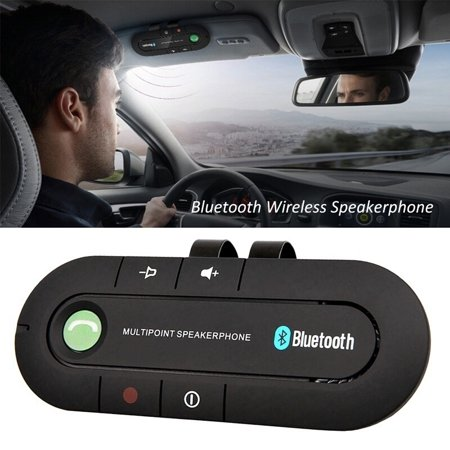 2018 New Arrival Wireless Bluetooth Car Kit Hands-Free Speakerphone Mp3 Music Player For Iphone Android ()