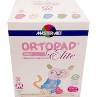 Ortopad Elite Girls Eye Patches - with Glitter Accents, Medium Size (50 Per Box)
