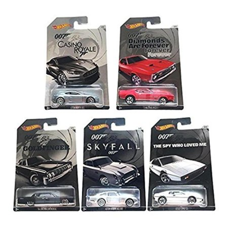 Hot Wheels 2015 exclusive James Bond 007 collection bundle of 5 diecast cars ()