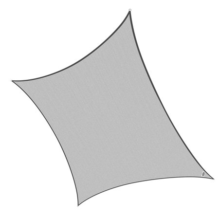 Cool Area Square Oversized 16 Feet 5 Inches Sun Shade Sail  Uv Block Patio Sail Perfect For Outdoor Patio Garden Swimming Pool In Color Silvery