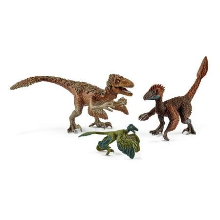 Schleich Dinosaur, Feather Raptors Multipack (3 pc) Toy Figure - Dinosaur Raptor