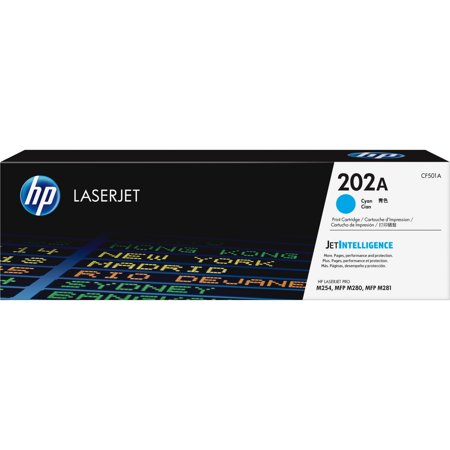 HP, HEWCF501A, 202A Cyan Original LaserJet Toner Cartridge, 1 Each