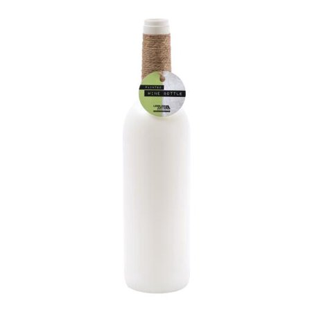 Leisure Arts Inc White Chalk Wine Bottle, 1 Each