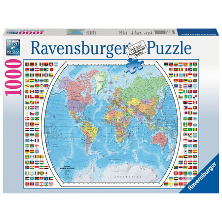 Political World Map 1000 PC Puzzle (Other)