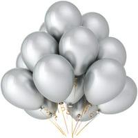 "50 pcs 12"" Metallic Silver Balloons Party Decoration birthday celebration"