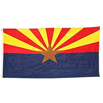 3x5 Foot Arizona Flag Double Stitched Arizona State Flag with Brass Grommets | 3 by 5 Foot Premium Indoor Outdoor Polyester Banner