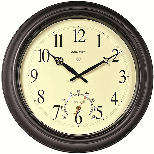 Better homes and gardens pocket watch wall clock brushed nickel - Large brushed nickel wall clock ...