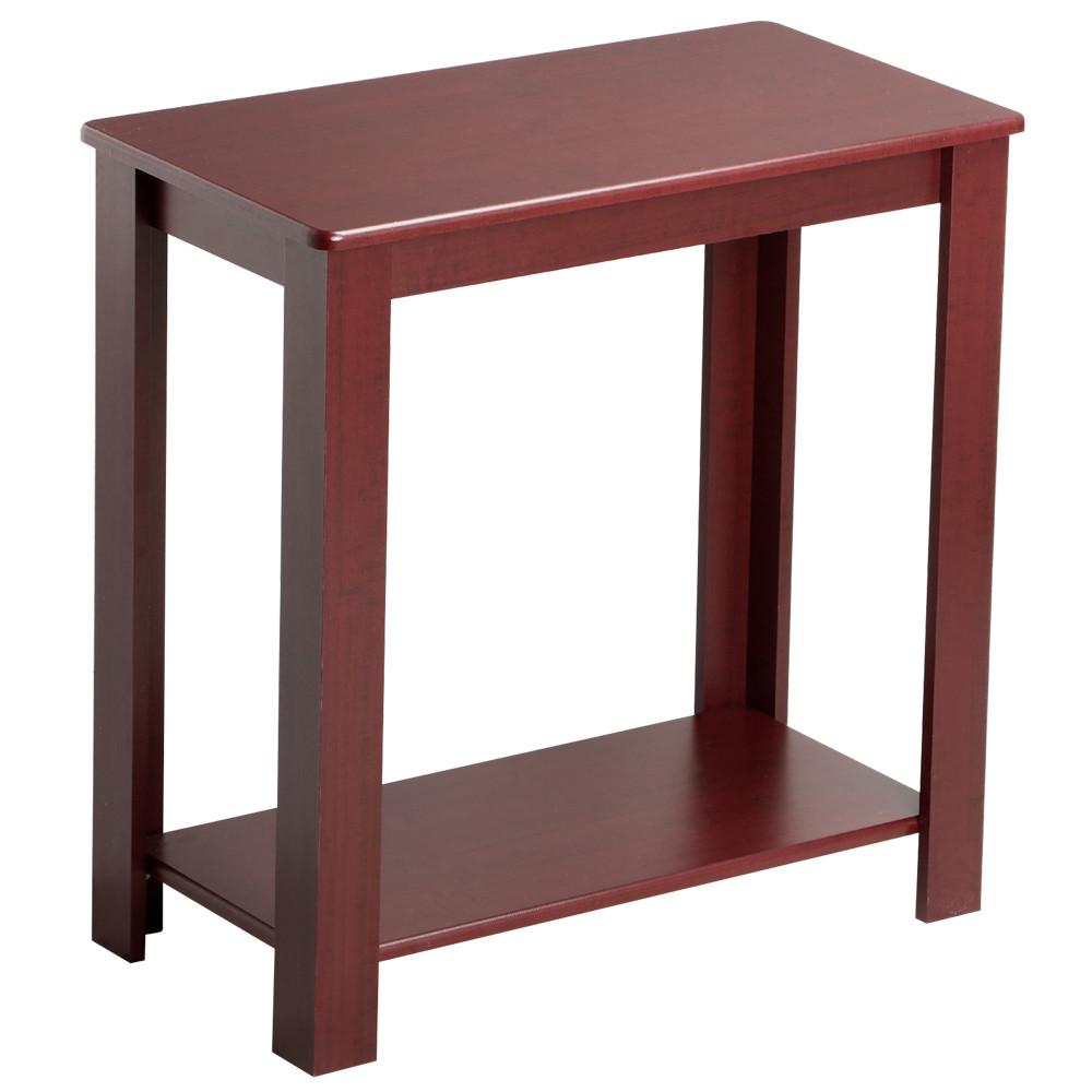 Yaheetech Espresso Chair Side Table Coffee Sofa Wooden End Shelf Living Room Furnit