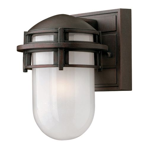 """Hinkley Lighting H1956 8"""" Height 1-Light Outdoor Wall Sconce from the Reef Collection"""