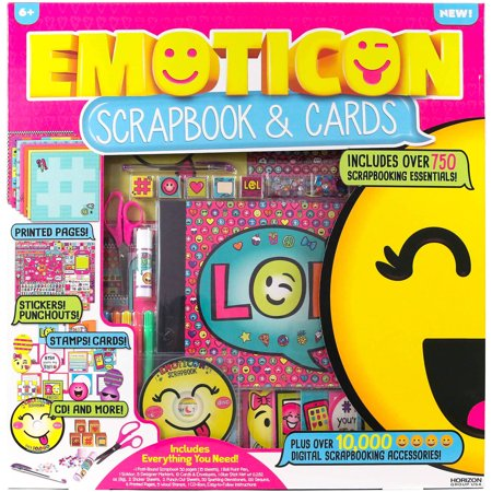 Emoticon Scrapbook And Cards 50 Piece Art Studio And Jewelry Kit By