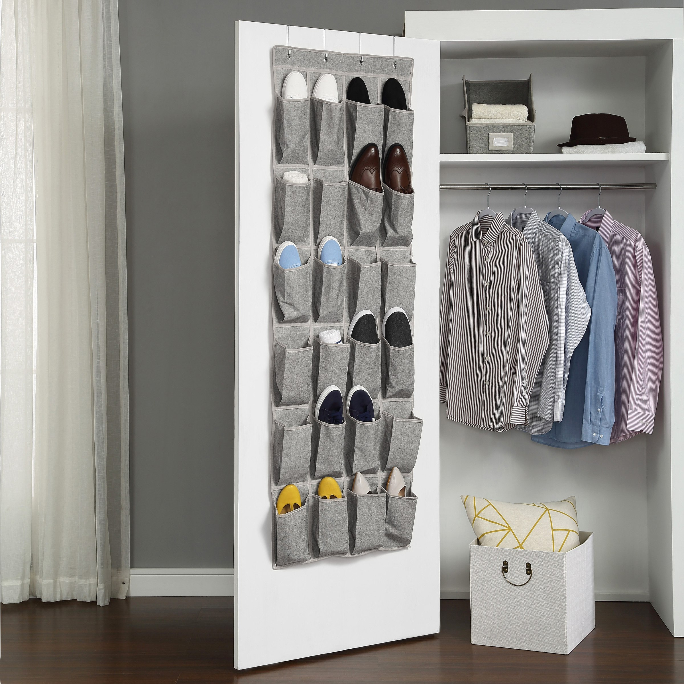 Better Homes Gardens Charleston Collection 24 Pocket Over The Door Shoe Organizer