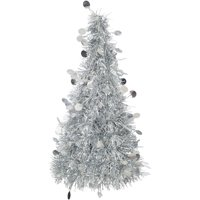 Tinsel Christmas Tree Centerpiece Decoration